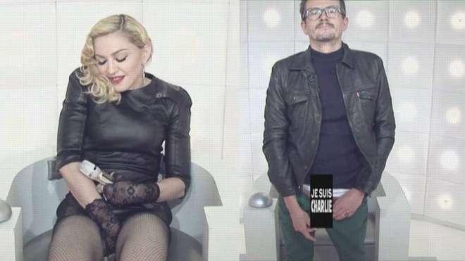 Madonna si tocca e il disegnatore di Charlie è nudo: la provocazione hot in tv